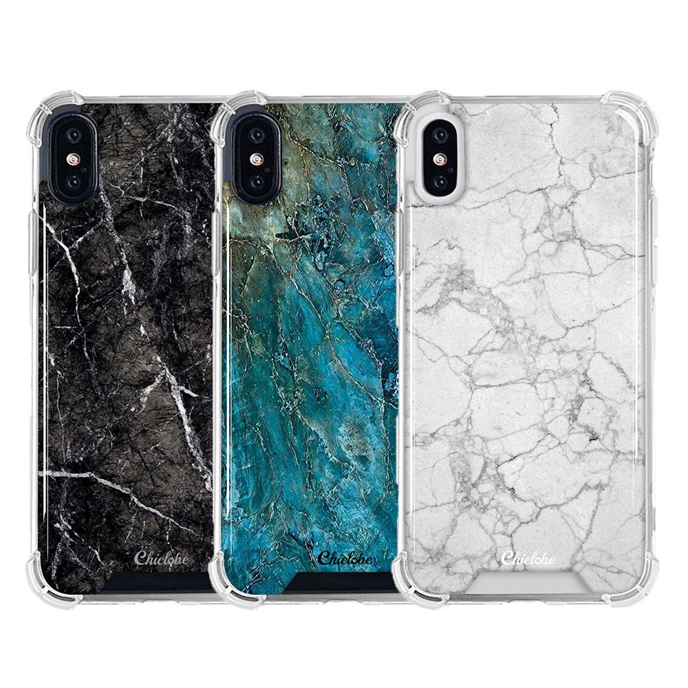 Chiclobe Apple iPhone Xs Max 反重力防摔殼 - 大理石系列(海藍大理石)