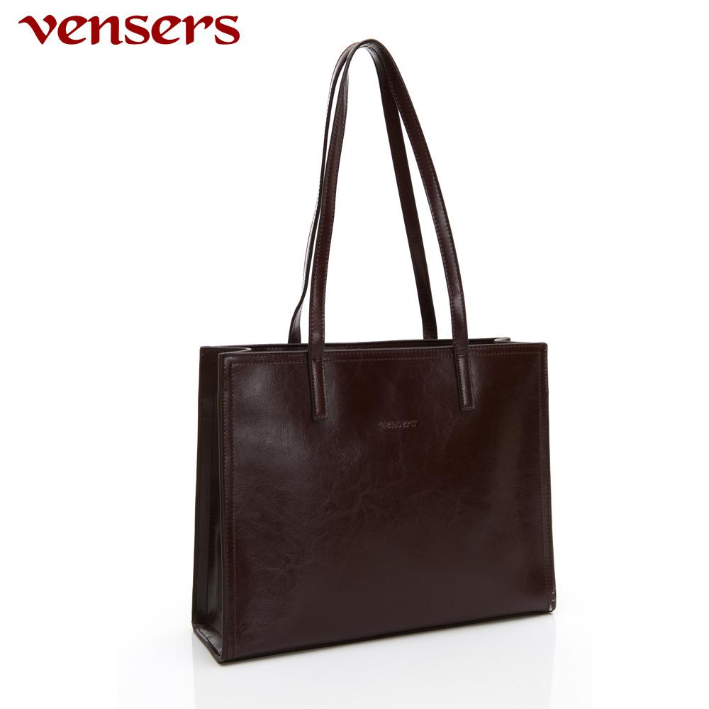 【vensers】小牛皮潮流個性包~肩背包(NL1081101咖啡)
