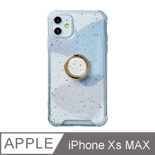 iPhone Xs Max 6.5吋 風雅紫秘氣墊iPhone防摔殼 附贈同款電鍍指環支架