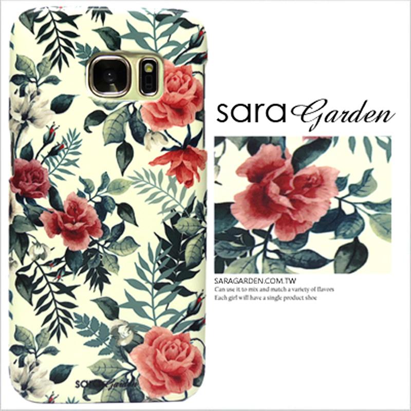 【Sara Garden】客製化 手機殼 SONY XA2 Ultra 復古 玫瑰 碎花 手工 保護殼 硬殼