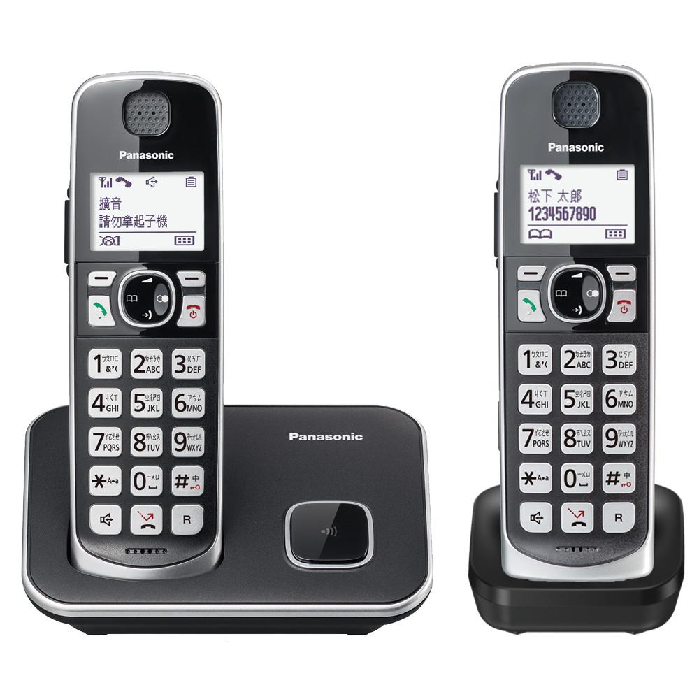 【贈國際牌負離子梳】Panasonic 國際牌KX-TGE612TW 大聲音大字鍵雙子機無線電話