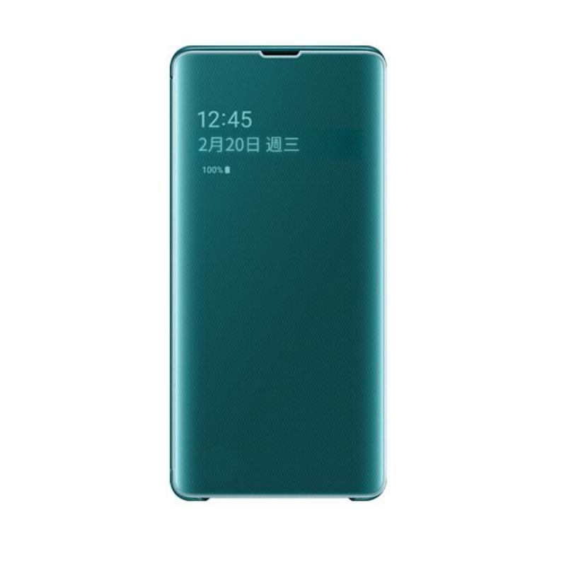 SAMSUNG Galaxy S10+ 全透視感應皮套 綠