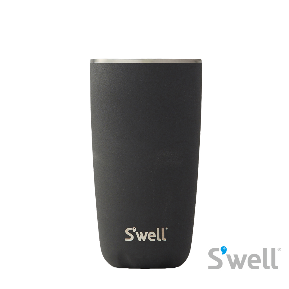 【S'well】紐約時尚不鏽鋼保冷保溫瓶-Tumbler系列 Onyx+Tumbler Lid 18oz(532ml)