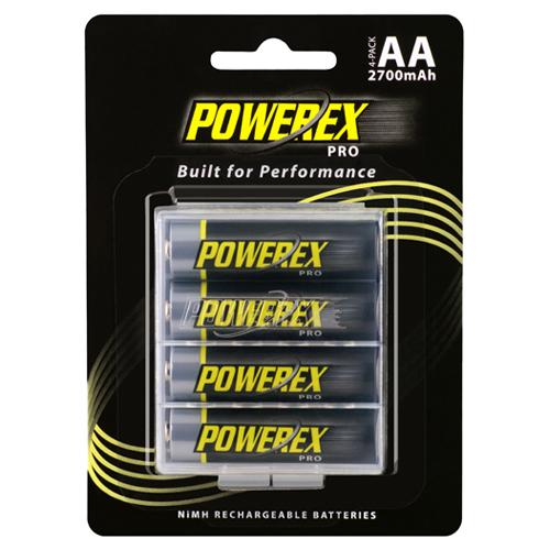 POWEREX 低自放電3號充電池PRO 2700mAh(4/卡)★附贈收藏盒