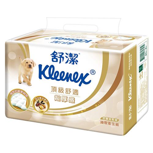 【舒潔】頂級舒適超厚感抽取衛生紙90抽x8包 (4串購)