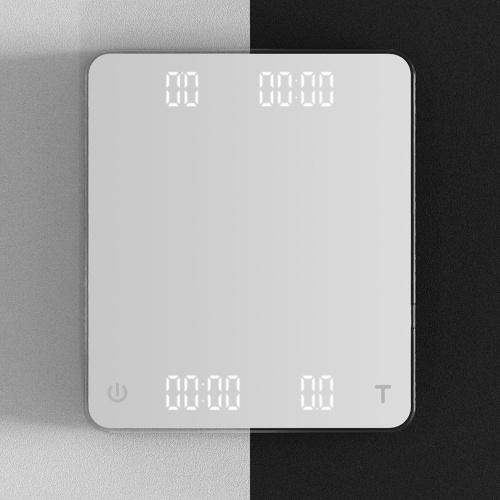 CAFEDE KONA GHOST雙螢幕LED手沖咖啡電子秤-白色