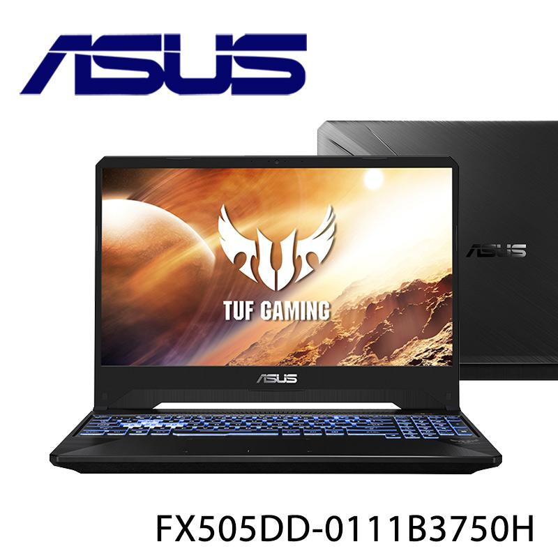 【ASUS華碩】FX505DD-0111B3750H 戰斧黑 15.6吋 筆電-送無線滑鼠+電腦除塵刷(贈品款式顏色隨機出貨)