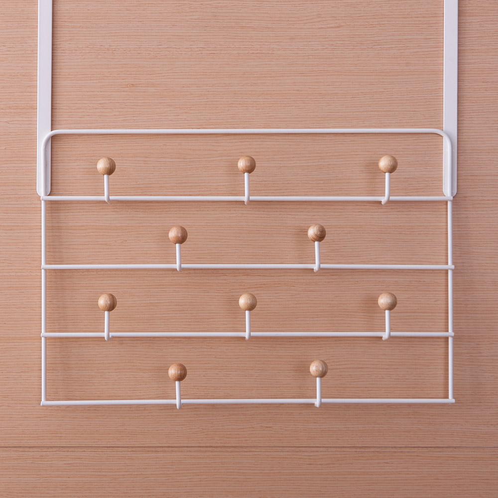 門後木珠10鉤掛架-生活工場