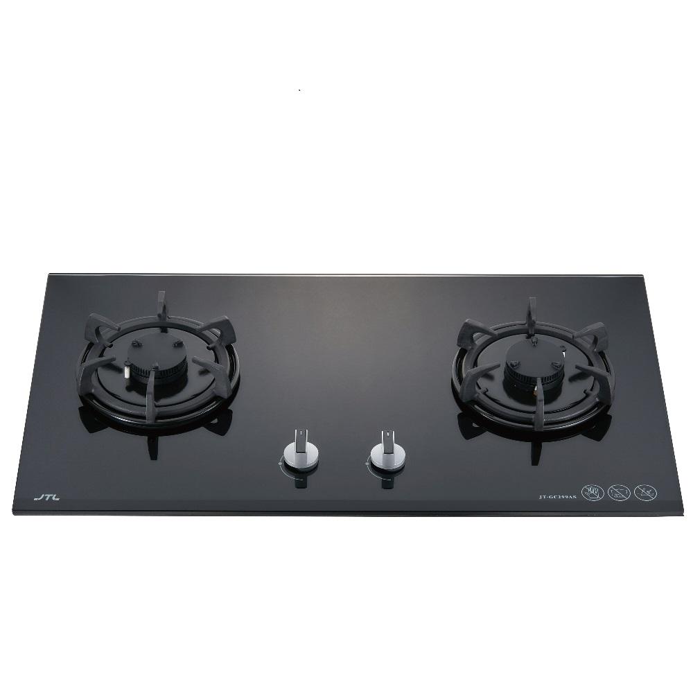 (全省安裝)喜特麗二口晶焱玻璃檯面爐黑色(與JT-GC299A同款)瓦斯爐桶裝瓦斯JT-GC299AS_LPG