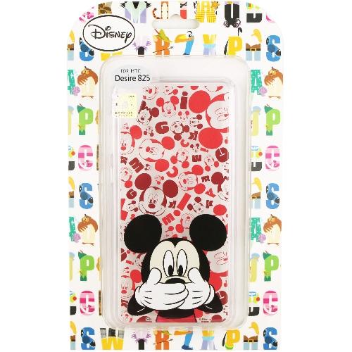 【Disney】HTC Desire 825 / D825u 摀嘴系列 彩繪透明保護軟套(米奇)