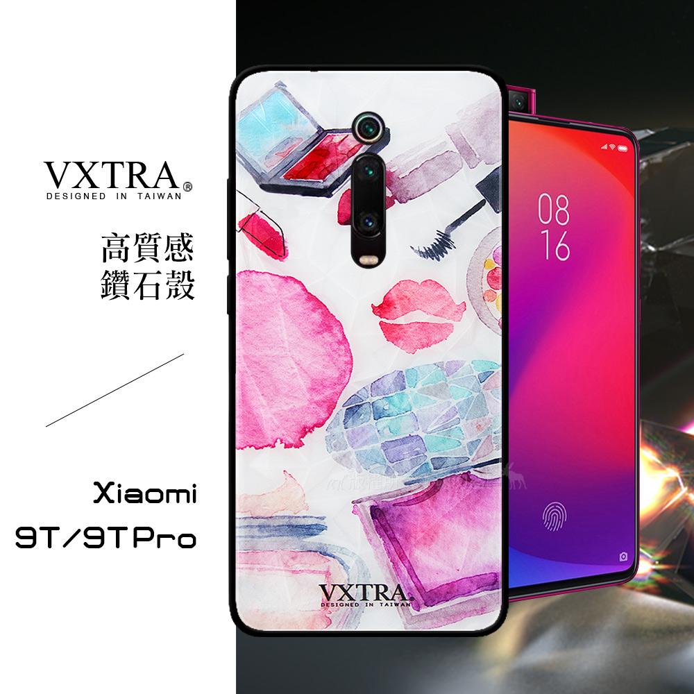 VXTRA 小米9T/9T Pro 共用款 鑽石紋防滑全包保護殼(時尚彩妝)