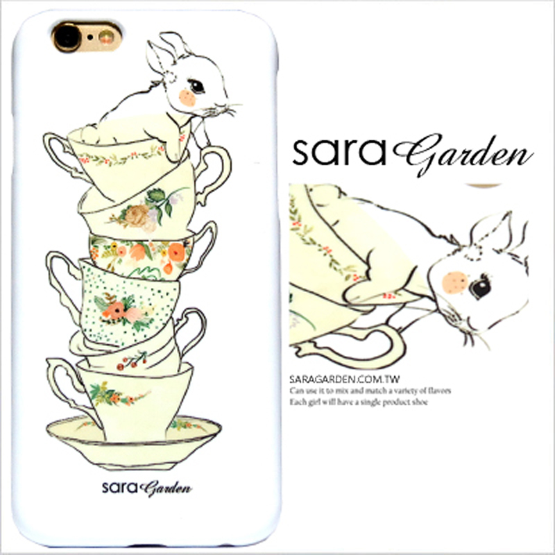 【Sara Garden】客製化 手機殼 Samsung 三星 Note5 手繪 茶杯 疊疊樂 兔兔 保護殼 硬殼