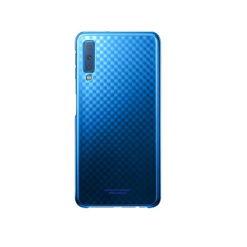 SAMSUNG Galaxy A7 漸層透明背蓋 藍