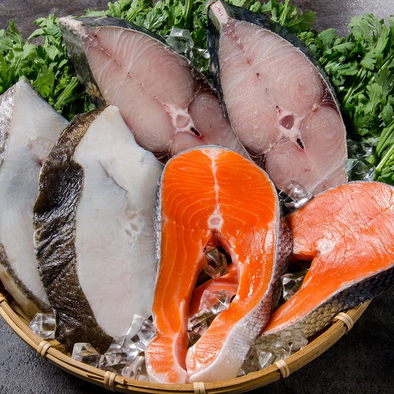 【鮮綠生活】海鮮大三元(鮭魚、大比目魚、土魠魚)/各一片