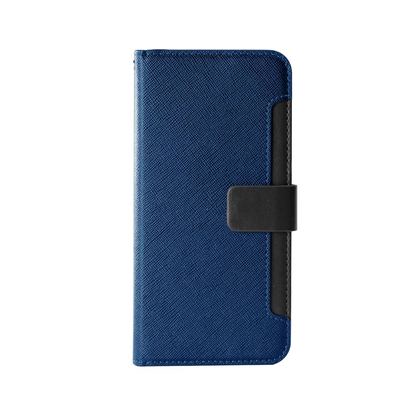 CASE SHOP 前插卡側立式皮套 SAMSUNG A22(5G) 藍