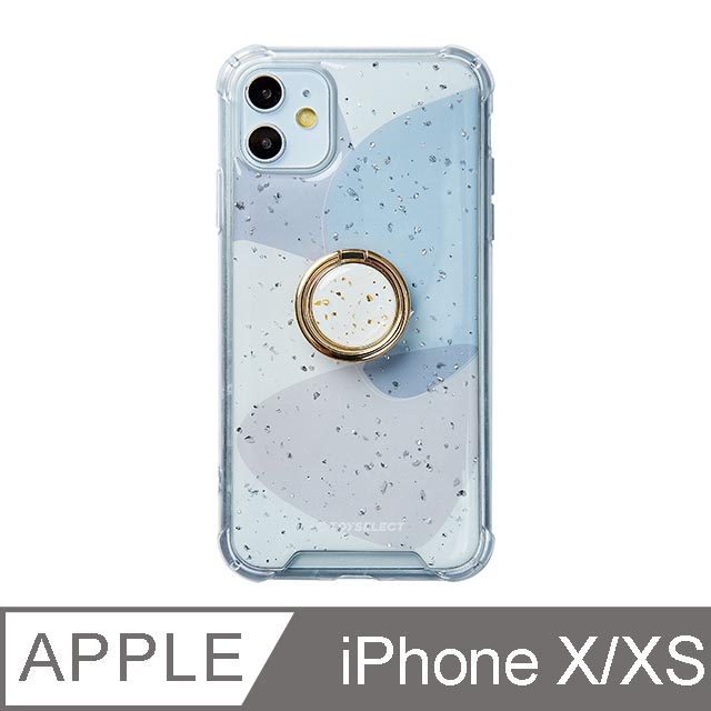 iPhone X/Xs 5.8吋 風雅紫秘氣墊iPhone防摔殼 附贈同款電鍍指環支架