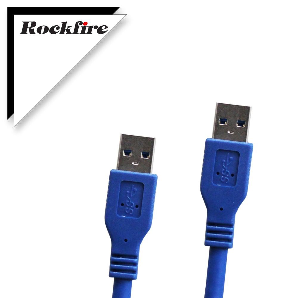 Rockfire USB3.0超高速傳輸線A公-A公 1M