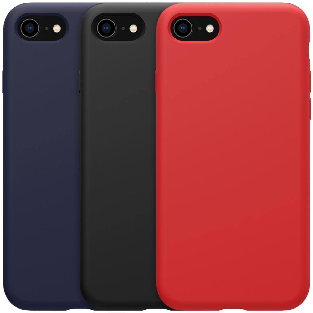 NILLKIN Apple iPhone SE 2020/iPhone 8/7 感系列液態矽膠殼(紅色)