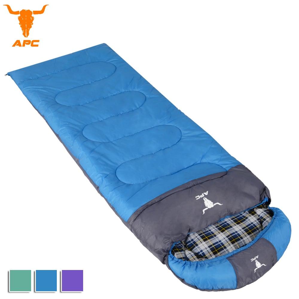 APC《純棉格子》秋冬加寬可拼接全開式睡袋-藍色