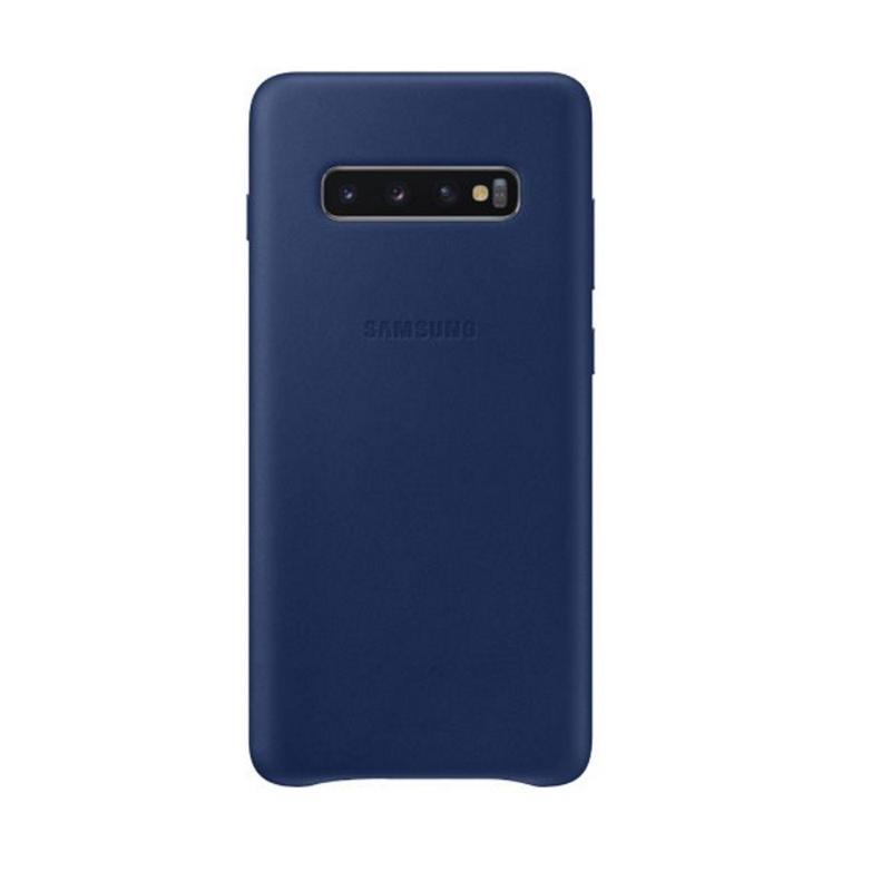 SAMSUNG Galaxy S10+ 皮革背蓋 海軍藍