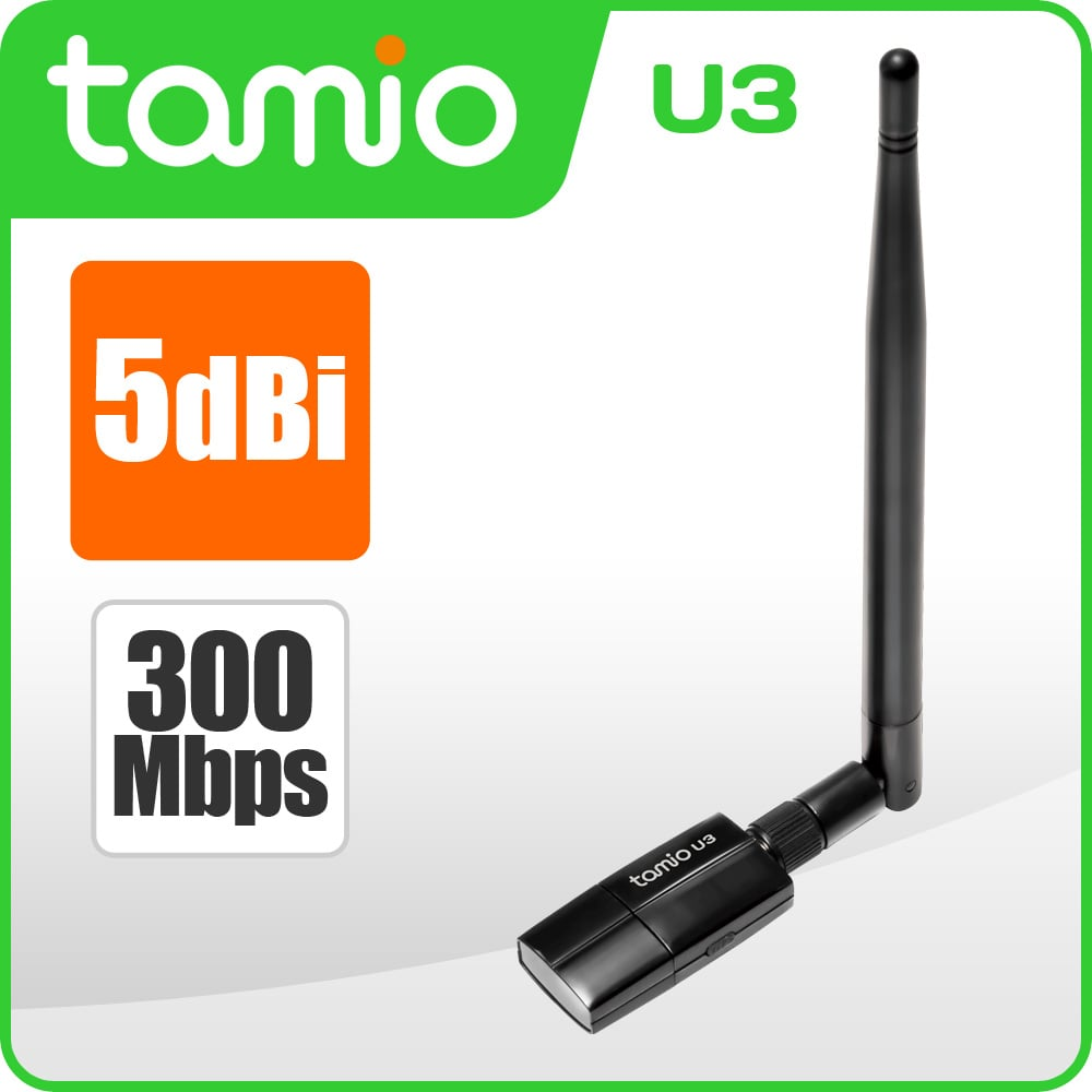 tamio U3-USB無線網卡★1+1雙天線,無線速度可達300M