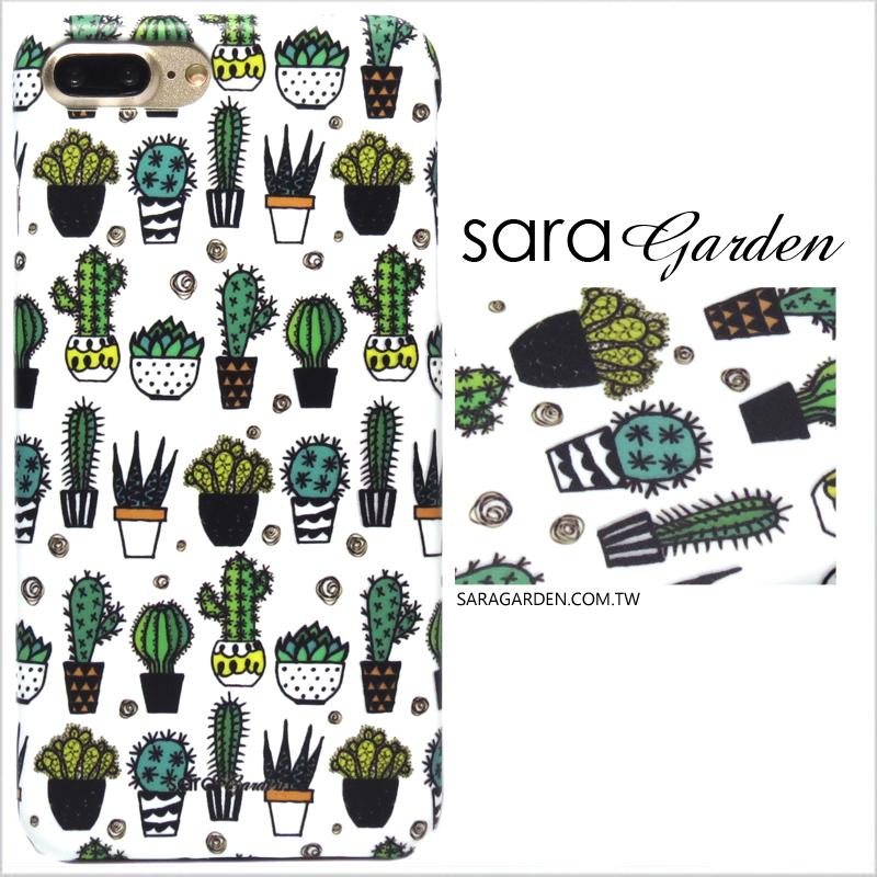 【Sara Garden】客製化 手機殼 蘋果 iphoneX iphone x 仙人掌盆栽 手工 保護殼 硬殼