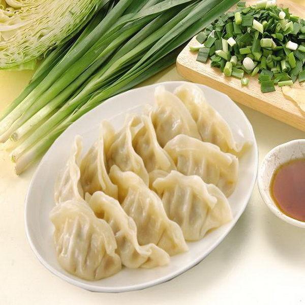 《禎祥食品》韭菜生水餃 (約100粒 1400g/包,共兩包)