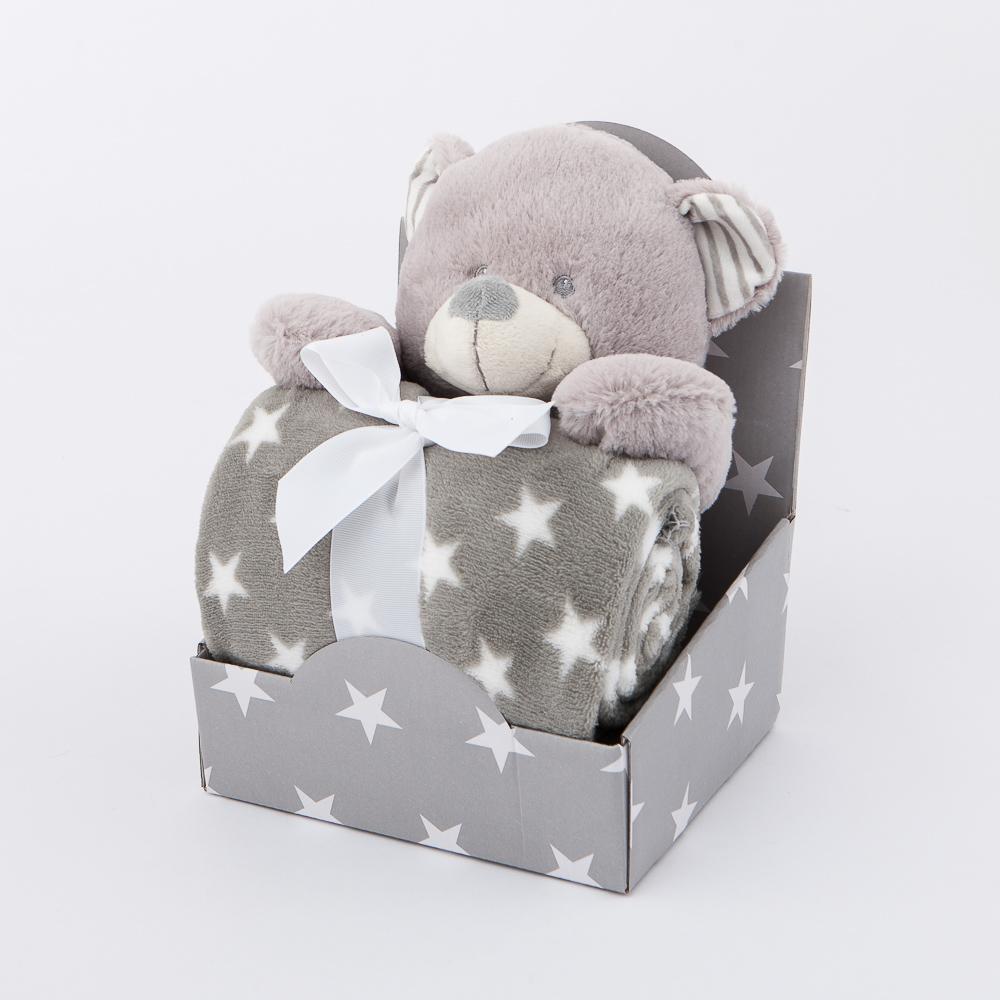 fuwafuwa9吋活力小熊蓋毯組-生活工場