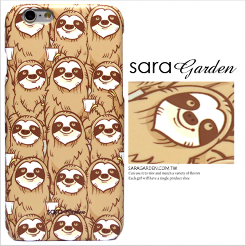 【Sara Garden】客製化 手機殼 ASUS 華碩 Zenfone4 ZE554KL 5.5吋 手繪 滿版 微笑 樹懶 保護殼 硬殼