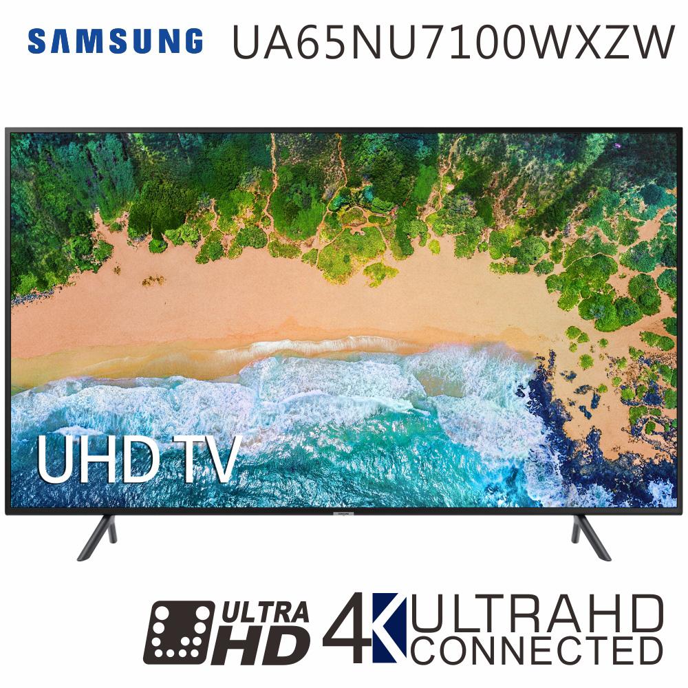 SAMSUNG三星 65吋 4K UHD Smart液晶電視(UA65NU7100WXZW)*送基本安裝+飛利浦行動抗菌空氣清淨機
