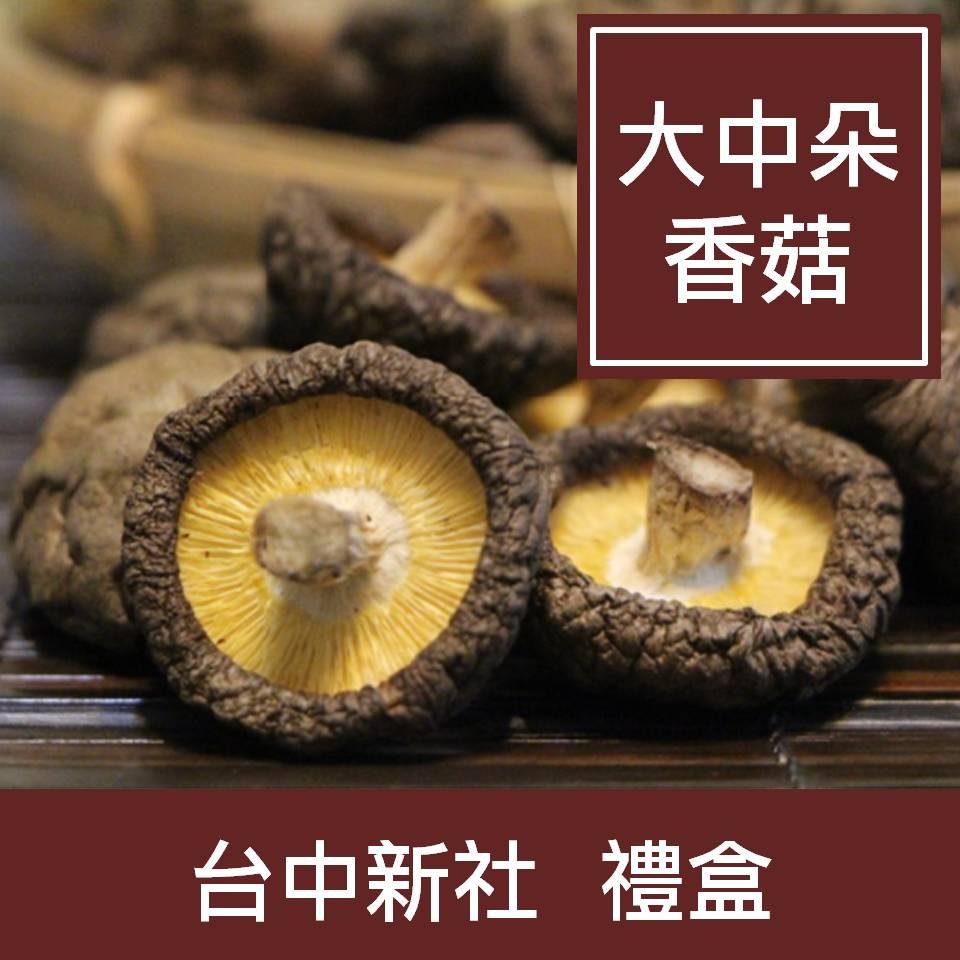 【一籃子】台中新社【乾香菇-大中菇禮盒】
