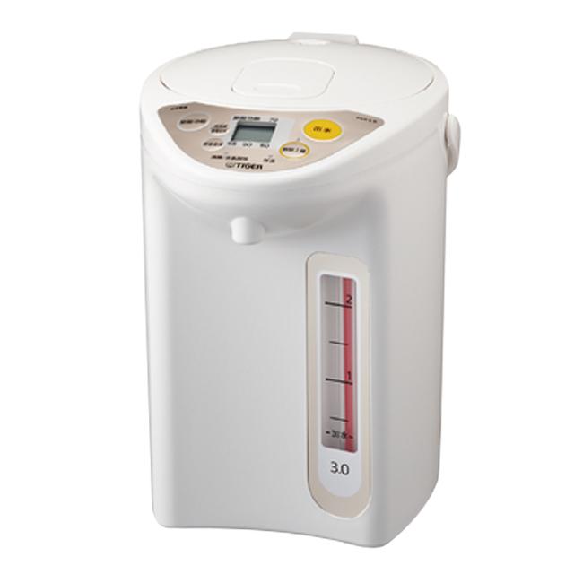 ★日本原裝進口★【TIGER虎牌】日本製3.0L微電腦電熱水瓶(珍珠白) PDR-S30R-WU