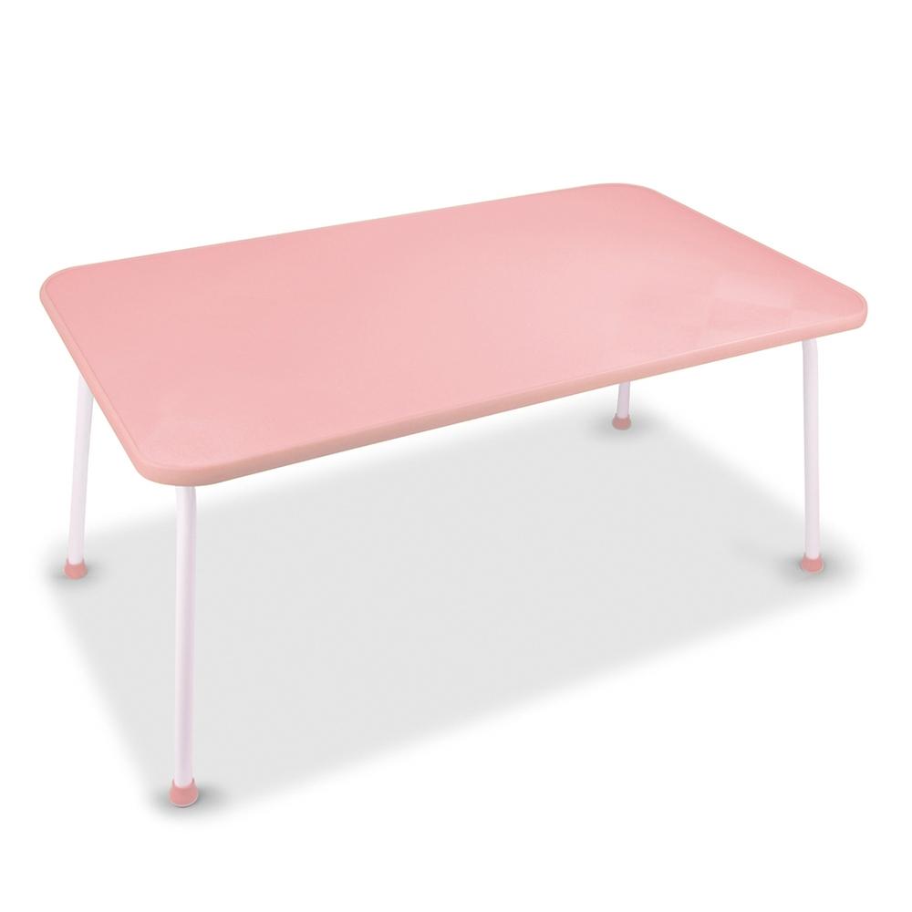 悠活簡約 多功能床上折疊電腦桌(LY-NB21)-粉紅
