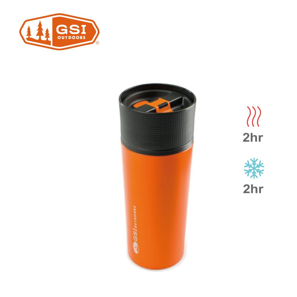 【美國GSI】 Glacier Stainless Commuter Mug不鏽鋼咖啡杯-橘色