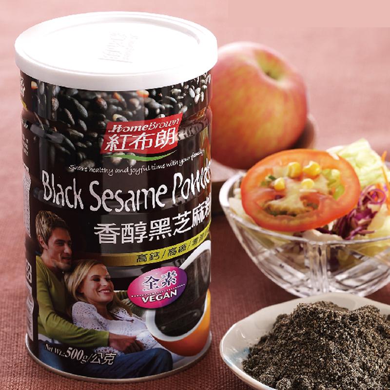 【紅布朗】香醇黑芝麻粉 500gX3罐
