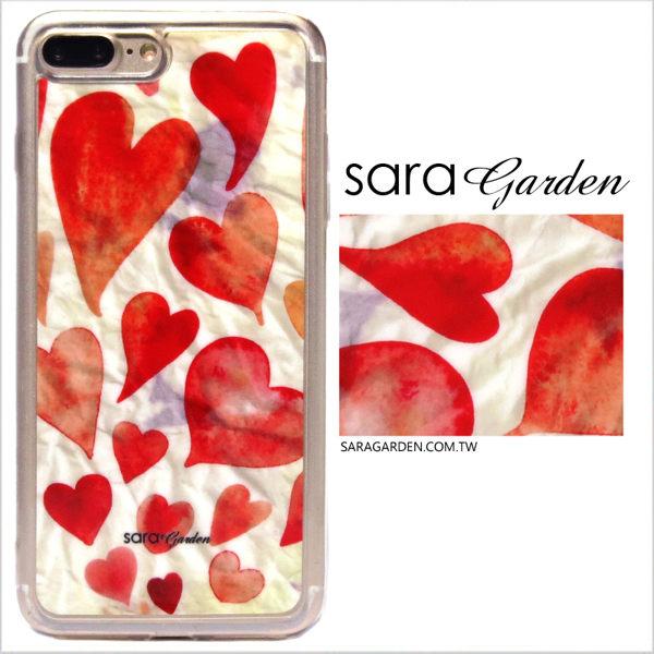 【Sara Garden】客製化 軟殼 蘋果 iPhone7 iphone8 i7 i8 4.7吋 手機殼 保護套 全包邊 掛繩孔 滿滿愛心
