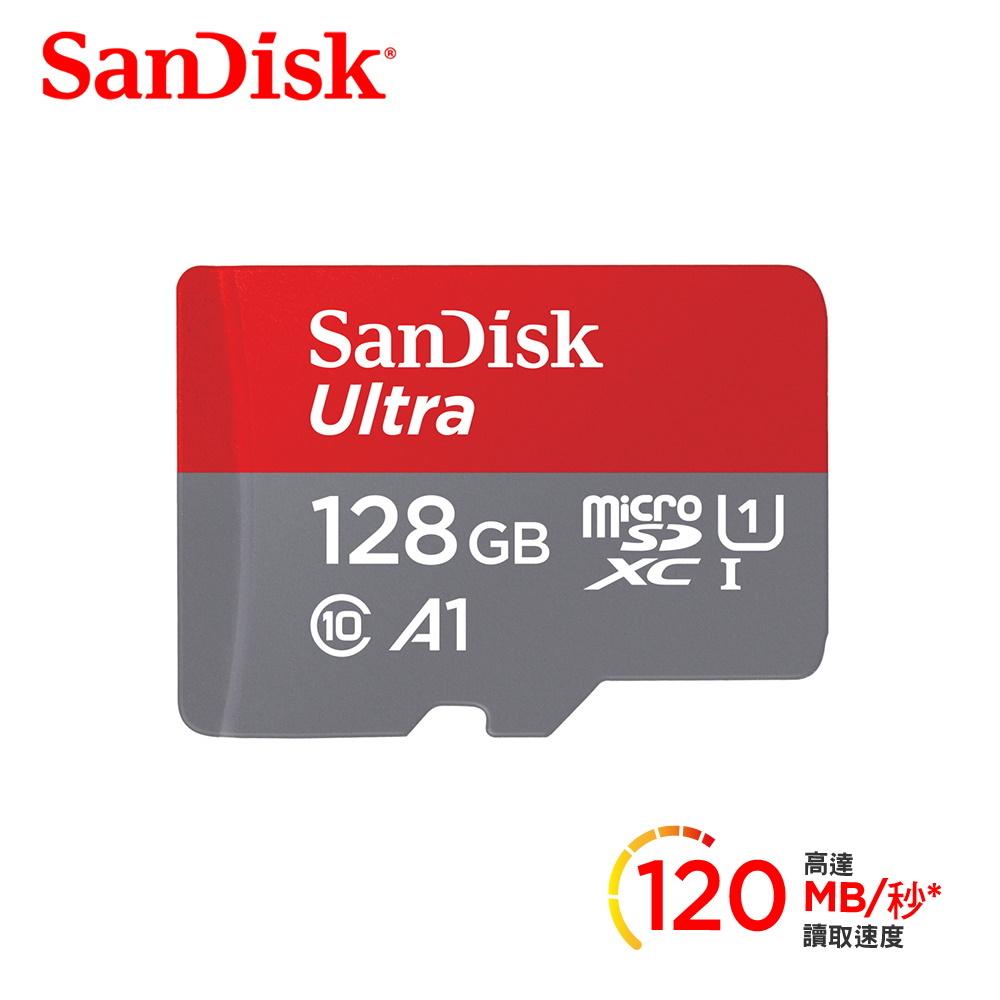 記憶卡SanDisk Ultra microSDXC 128G UHS-I A1 100MB/s(無SD轉卡)