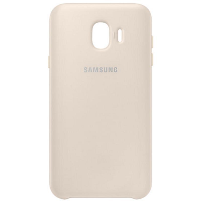 SAMSUNG Galaxy J4薄型透明背蓋-PC及TPU混和 金色