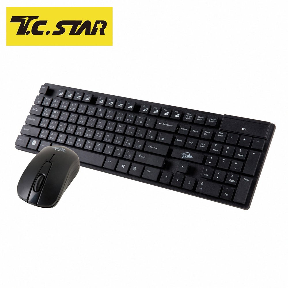 T.C.STAR 2.4G時尚輕巧鍵盤滑鼠組 TCK910BK