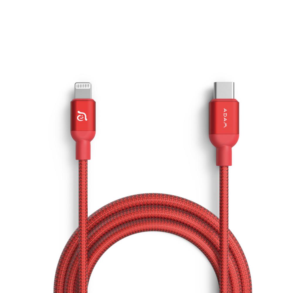 ADAM USB-C to Lightning 充電傳輸線 1.2M 紅 C120B