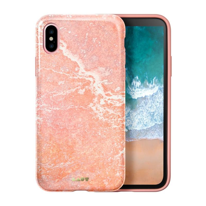 LAUT  經典大理石系列iPhoneX 粉紅