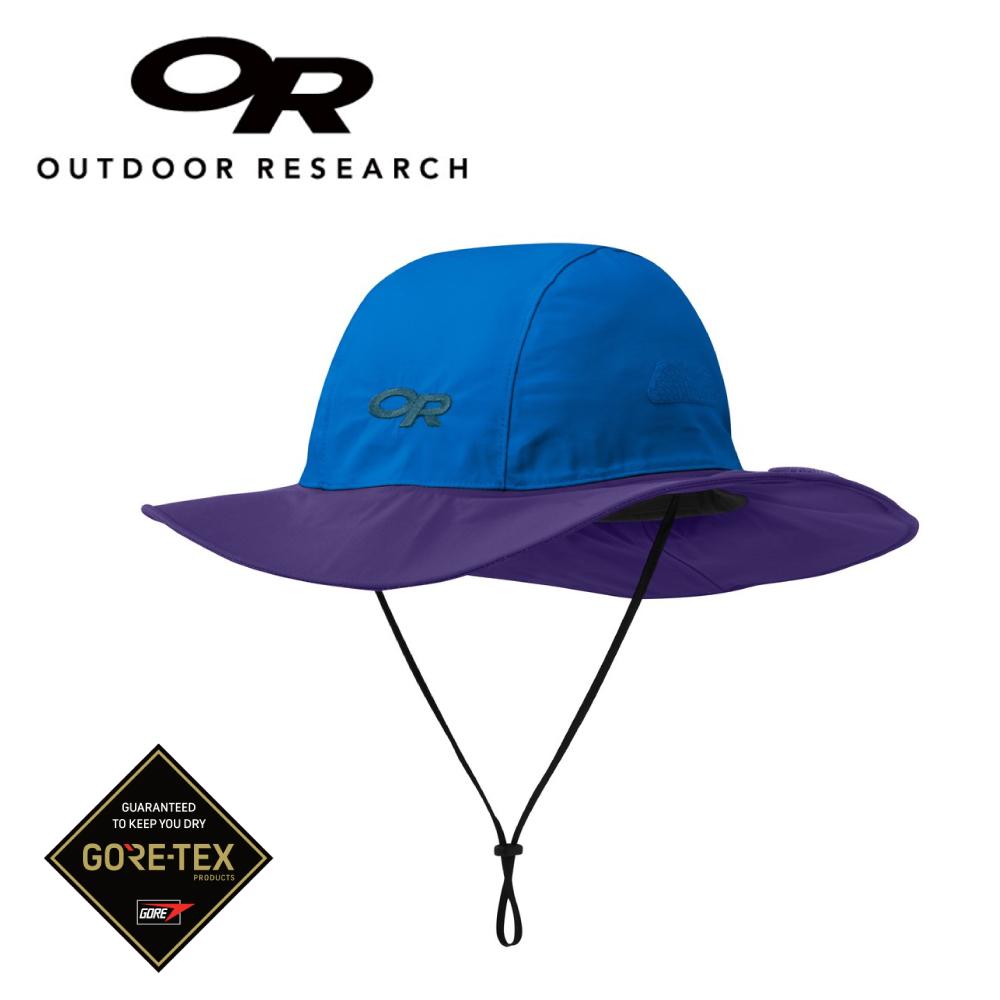 【美國Outdoor Research】藍/紫S(適孩童)-新色經典款防水透氣防曬可折疊遮陽帽