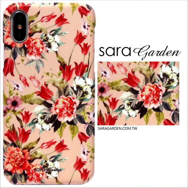【Sara Garden】客製化 手機殼 SONY XA2 玫瑰碎花 手工 保護殼 硬殼