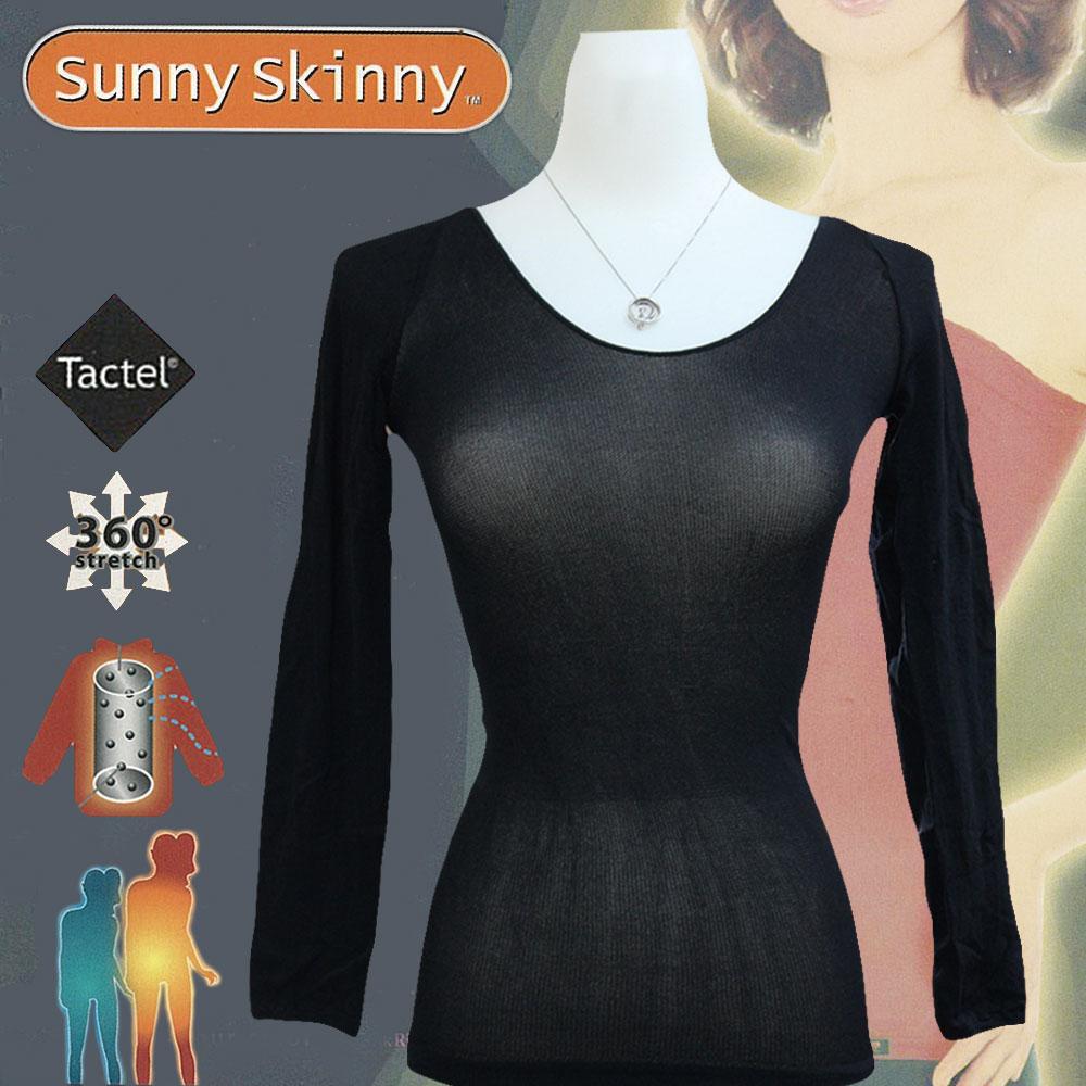 日本Sunny Skinny 光電子彈性恆溫保暖衣/黑色9分袖 GS-033961
