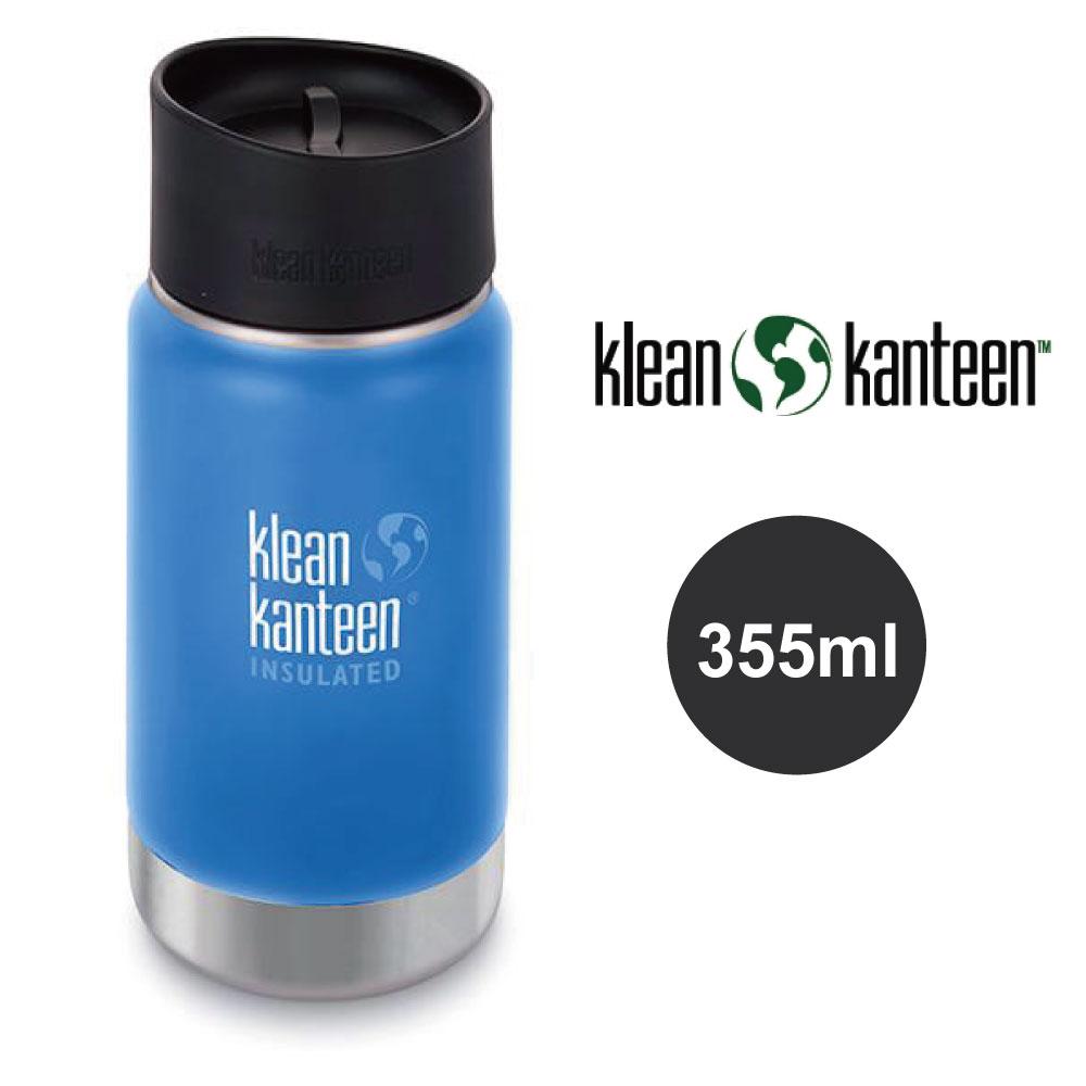 【美國Klean Kanteen】寬口不鏽鋼保溫瓶-355ml-海空藍