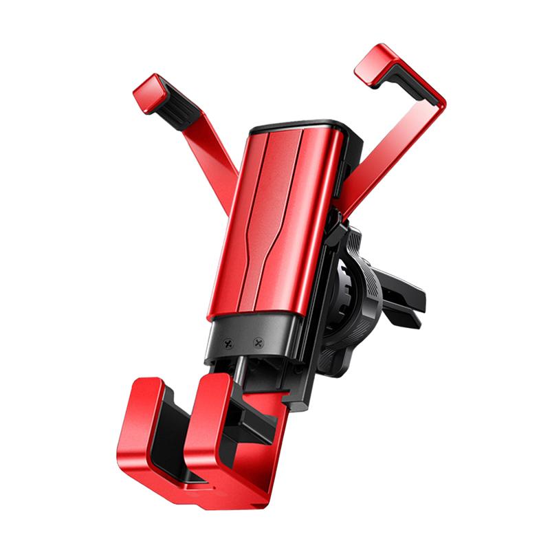 FJ重力鋁合金出風口車架DS9 4.7-7吋適用 紅色