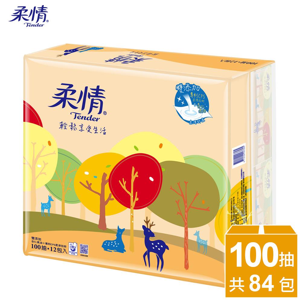 【柔情】抽取100抽x12包x7袋-杏仁果油+專利CPS柔滑技術/箱