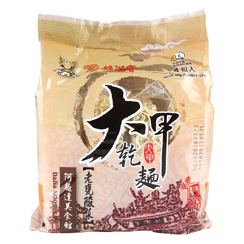 【大甲乾麵】鎮瀾宮系列-老甕酸菜口味(4入/袋)