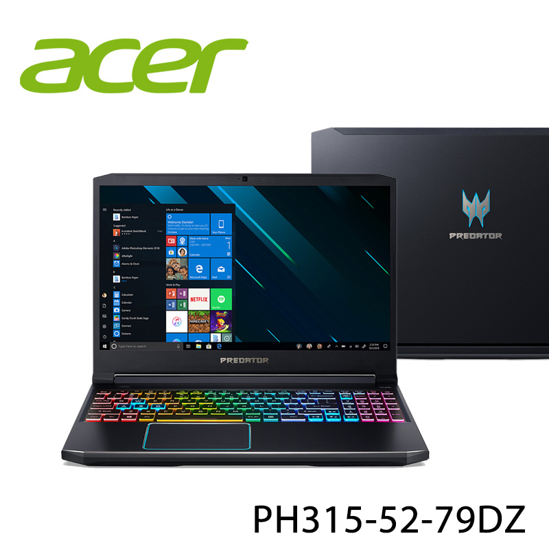 【ACER宏碁】PH315-52-79DZ 15.6吋 筆電-送無線鼠+電腦除塵刷(贈品隨機出貨)