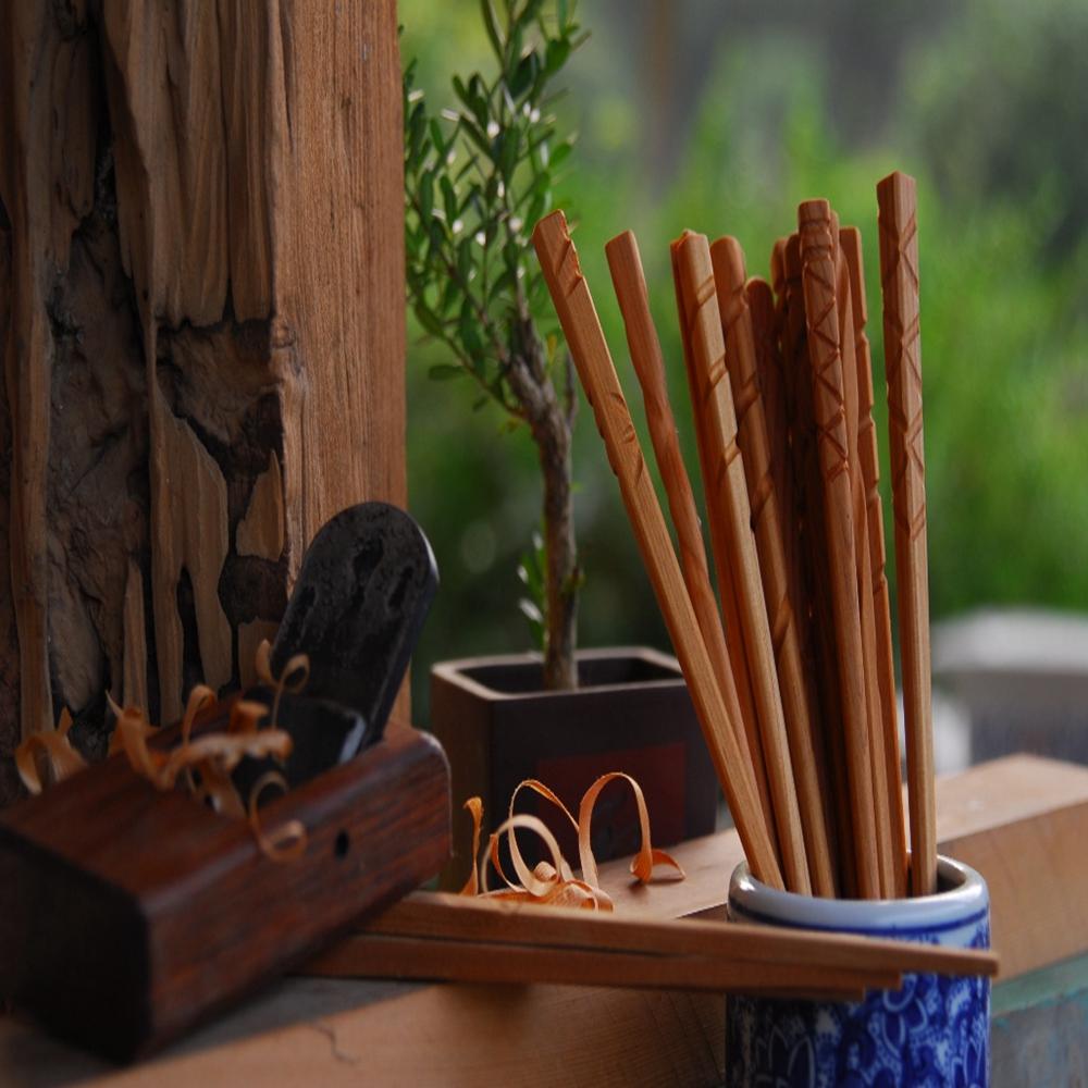 宜蘭冬山-東風有機休閒農場(檜木筷DIY+筷套)